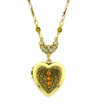 Vintage Fashion Jewelry,Victorian Jewelry,Vintage Heart Locket Necklace
